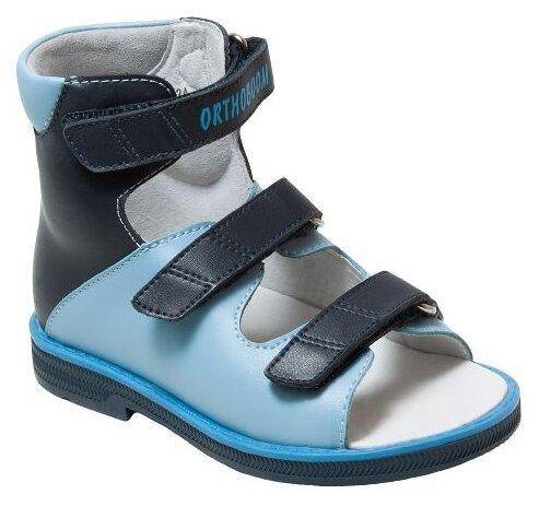 Сандалии Orthoboom размер 19, сине-голубой