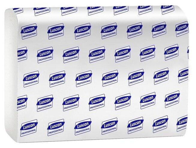 Полотенца бумажные для держателя 2-слойные Luscan Professional, листовые Z-сложения, 20 пачек по 190 листов, ширина 95мм