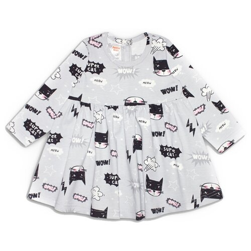 Платье Веселый Малыш размер 92, серый