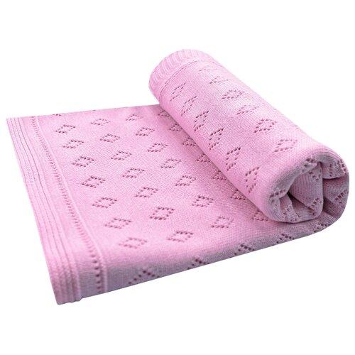 Плед LEO Ромбики 100x95 розовыйПокрывала, подушки, одеяла<br>
