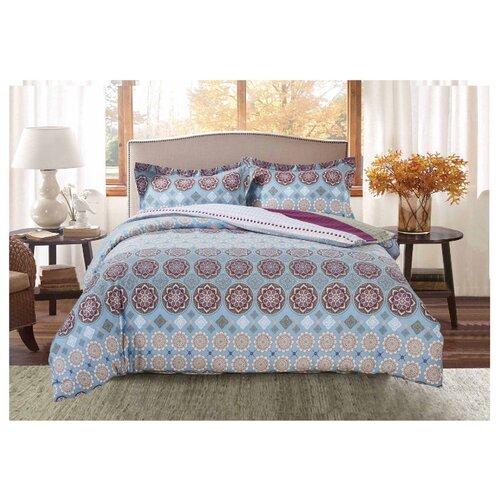 Постельное белье 2-спальное Selena Paisley Северное сияние, сатинКомплекты<br>