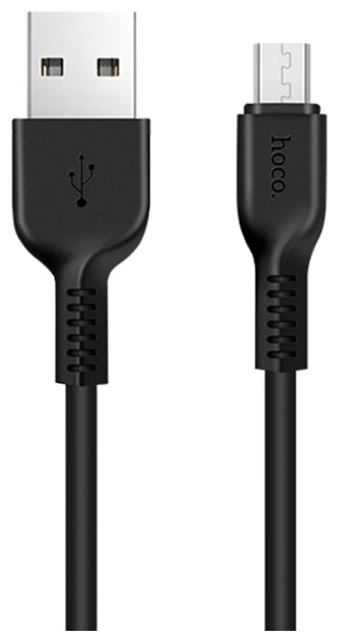 Кабель Hoco X13 Easy charged USB - microUSB 1 м черный фото 1