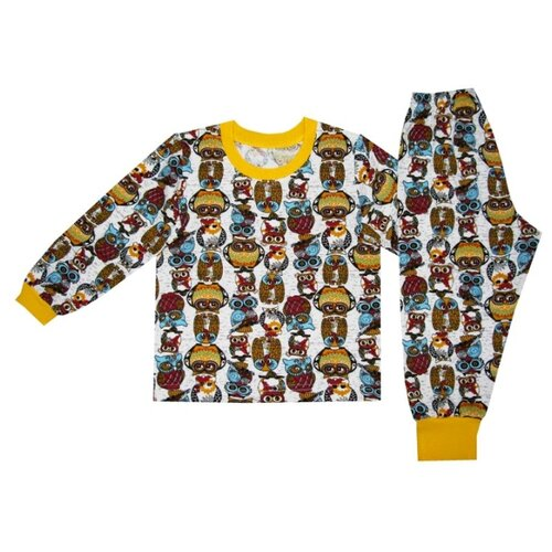 Пижама ПАНДА дети размер 98, желтыйДомашняя одежда<br>