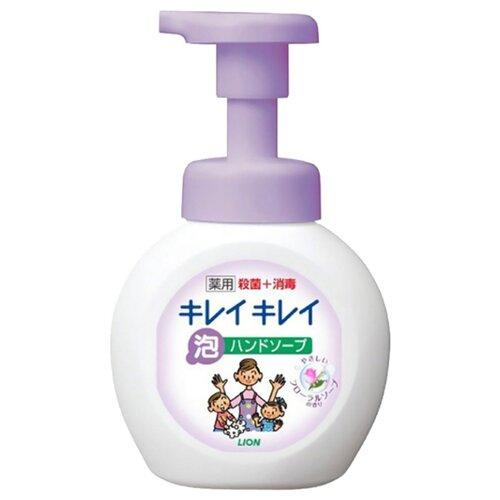 косметика для мамы lion kirei kirei пенное мыло для рук с ароматом цитрусовых фруктов запасной блок 450 мл Пенка Lion Kirei Kirei цветы, 250 мл