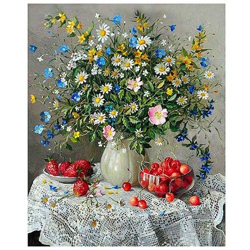 Алмазная живопись Набор алмазной вышивки Летняя композиция (АЖ-1197) 50x60 см