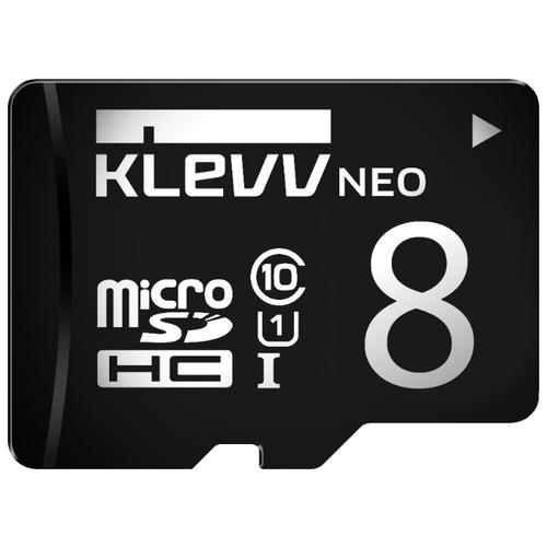 Карта памяти KLEVV microSDHC Class 10 UHS-I U1 8GB + SD adapter