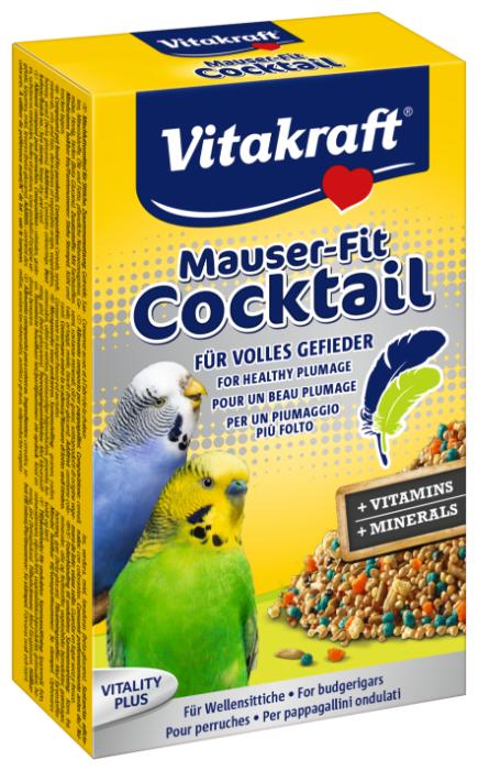 Добавка в корм Vitakraft для волнистых попугаев в период линьки