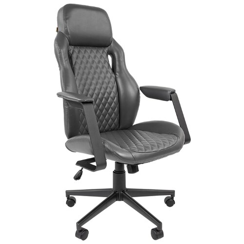 Компьютерное кресло Chairman 720 для руководителя, обивка: искусственная кожа, цвет: серый