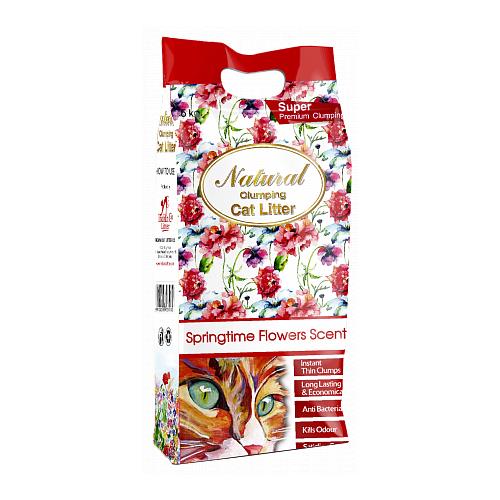 Комкующийся наполнитель Indian Cat Litter Natural Springtime Flowers 5 кг