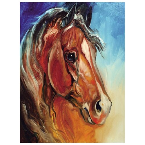 Купить Molly Картина по номерам Рыжий конь 15х20 см (KH0053/1), Картины по номерам и контурам