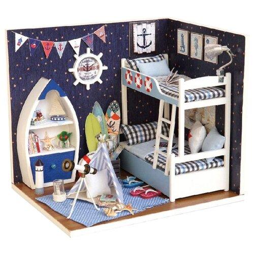 Купить Dolemikki кукольный домик ZQW06, синий, Кукольные домики