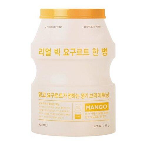 Фото - A'PIEU тканевая маска Real Big Yogurt One-Bottle Mango с экстрактом манго, 21 г a pieu тканевая маска real big yogurt one bottle mango с экстрактом манго 21 г