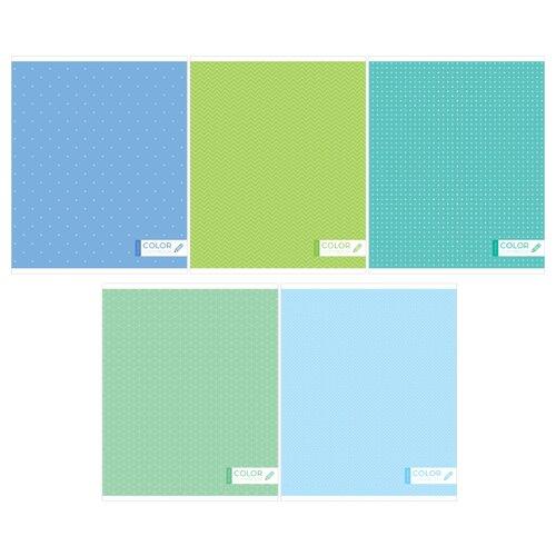 Купить ArtSpace Упаковка тетрадей Моноколор Т96кЭ_23608, 5 шт./5 дизайнов, клетка, 96 л., Тетради