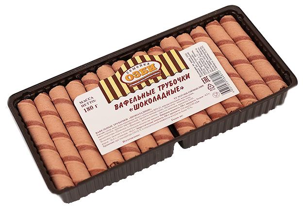 Вафельные трубочки Семейка ОЗБИ шоколадные 180 г