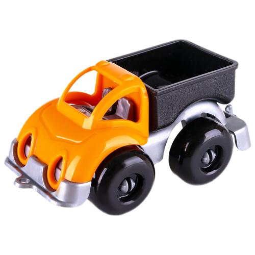 Купить Грузовик Knopa Вжух на стройке (86215) 10 см желтый/серый/оранжевый/черный, Машинки и техника