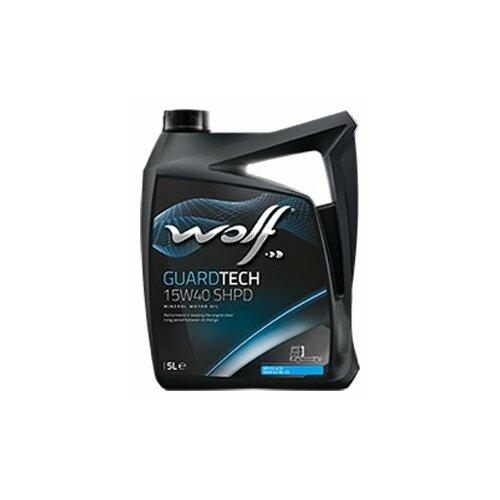 Минеральное моторное масло Wolf Guardtech 15W40 SHPD, 5 л