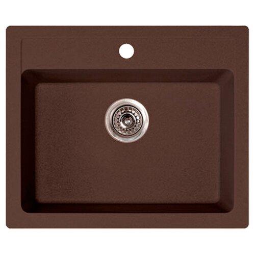 Врезная кухонная мойка 60 см ORIVEL Quadro 60 170723 коричневый