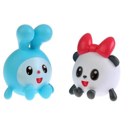 Купить Набор для ванной Играем вместе Малышарики. Крошик и Панди (LX-ST1710-1712) голубой/белый, Игрушки для ванной