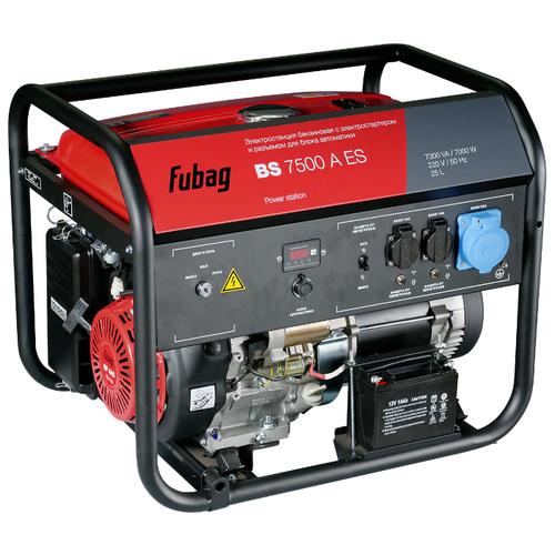 Бензиновый генератор Fubag BS 7500 A ES (838760) (7000 Вт) бензиновый генератор fubag bs 6600 a es 6000 вт