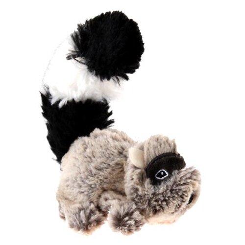 Игрушка для собак GiGwi Plush Friendz Енот (75307) бежевый/черный игрушка для собак gigwi plush friendz белка 75309 коричневый бежевый