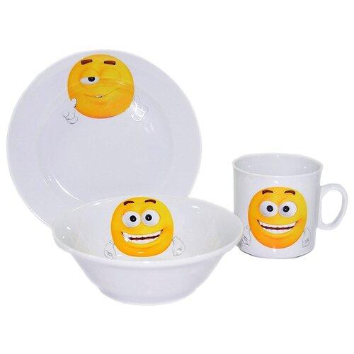 Набор для завтрака Добрушский фарфоровый завод Озорнички 3 предмета 6С2540 набор для завтрака osz disney cars принцессы 3 предмета