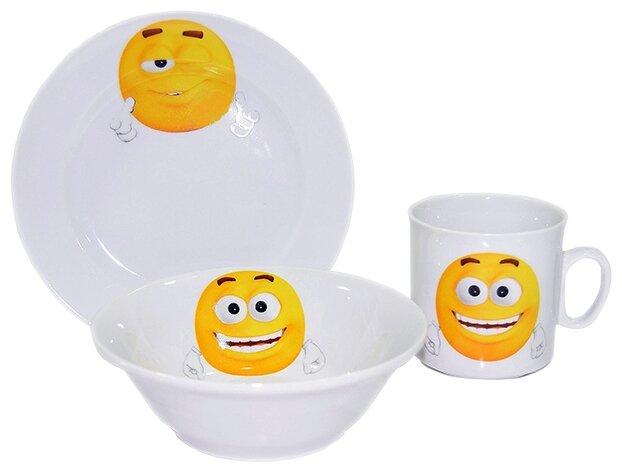 Набор для завтрака Добрушский фарфоровый завод Озорнички 3 предмета 6С2540