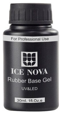 Базовое покрытие ICE NOVA Rubber Base Gel 30 мл прозрачный