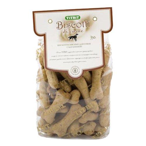 Лакомство для собак Titbit Печенье Бискотти с бараниной, 350 г лакомство для собак titbit biff мясная косточка с бараниной 2 л