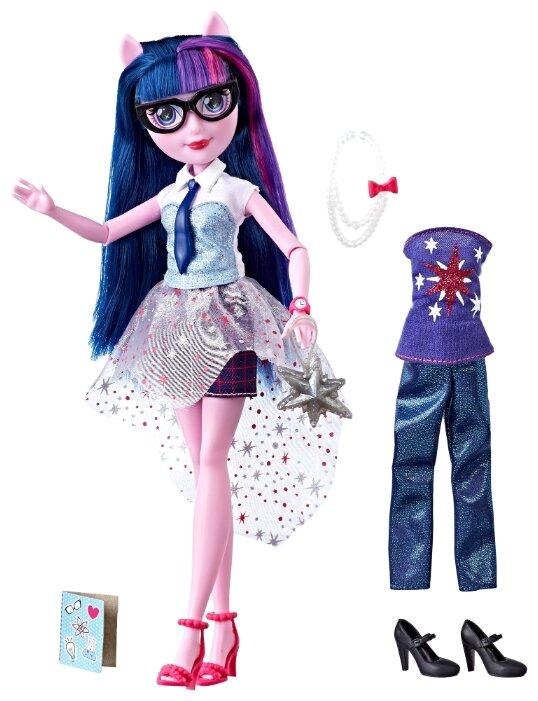Кукла My Little Pony Equestria Girls Уникальный наряд Твайлайт Спаркл, 29 см, E2745