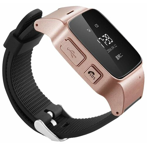 Часы Smart Baby Watch D99 розовое золото/черный smart gps lbs tracker watch for elderly people child wristwatch with sos call safe anti lost remote heart rate monitoring watch
