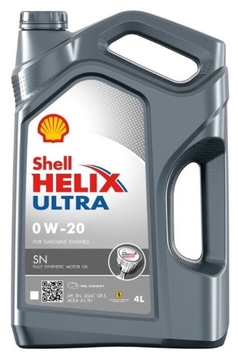 Моторное масло SHELL Helix Ultra SN 0W-20 4 л