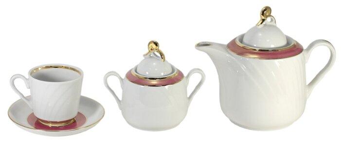 Чайный сервиз Добрушский фарфоровый завод Голубка (Олимпик) 14 предметов