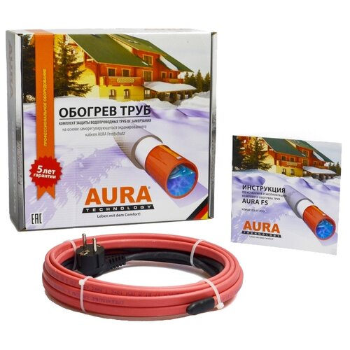 Греющий кабель саморегулирующийся AURA FS 17-5 греющий кабель oasis 300 1 5 2 7м2 300вт