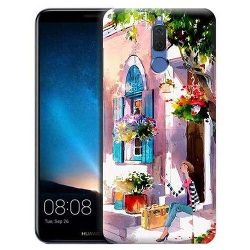 Купить Чехол Gosso 698035 для Huawei Nova 2i девочка на цветущей улочке