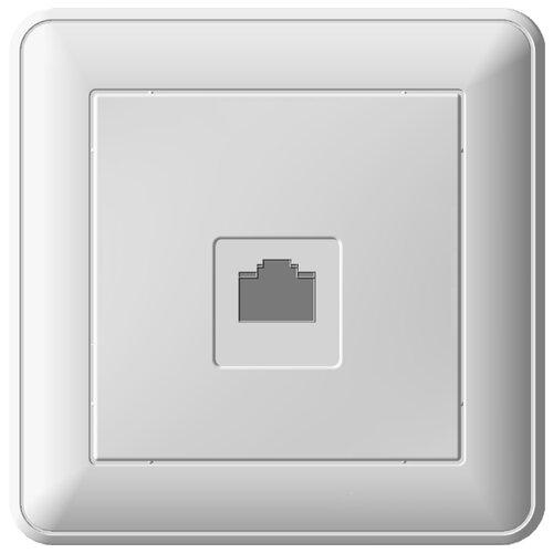 Розетка для интернета / телефона RJ45 Schneider Electric RSI-152K5E-18,1А, белый розетка wessen59 rsi 152k5e 18 белый компьютерная 1 ая rj45 кат 5e в сборе с рамкой