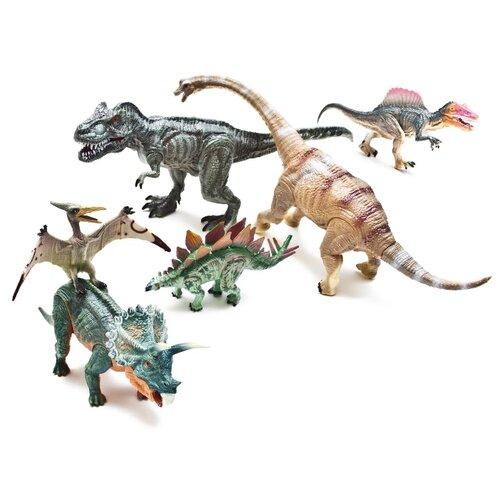 Фигурки PhantomKids Cretaceous Птеродактиль, Бронтозавр, Тиранозавр, Спинозавр, Трицератопс, Стегозавр FL6023536Игровые наборы и фигурки<br>