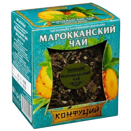 Чай зеленый Конфуций Марокканский , 55 г чай листовой gutenberg марокканский апельсин черный ароматизированный 500 г