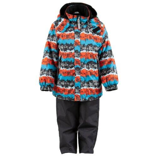 Купить Комплект с полукомбинезоном KERRY размер 92, 6370 бирюзовый/оранжевый/черный, Комплекты верхней одежды