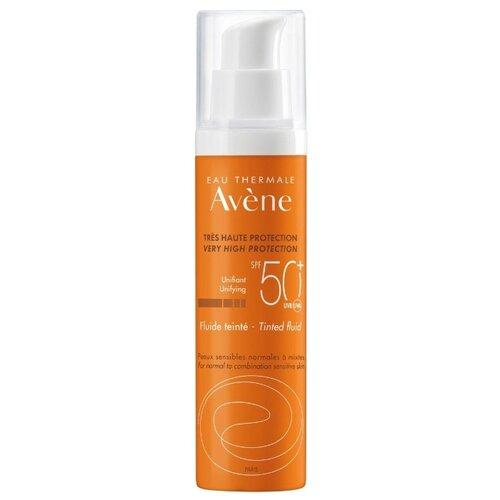 Флюид для защиты от солнца AVENE с тонирующим эффектом без отдушек, SPF 50, 50 мл крем с тонирующим эффектом эйвон