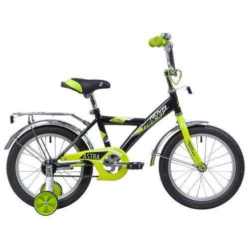Детский велосипед Novatrack Astra 16 (2019) черный (требует финальной сборки)