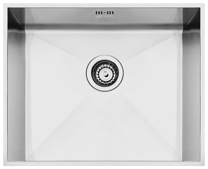 Врезная кухонная мойка smeg VSTQ50-2 52х41.8см нержавеющая сталь