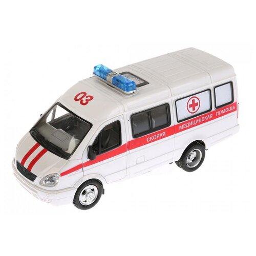 Купить Микроавтобус ТЕХНОПАРК ГАЗель Скорая помощь (A071-H11021-J006) 1:43 20 см белый, Машинки и техника