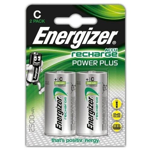 Фото - Аккумулятор Ni-Mh 2500 мА·ч Energizer Accu Recharge Power Plus C 2 шт блистер аккумулятор ni mh 2600 ма·ч varta recharge accu power 2600 aa 4 шт блистер