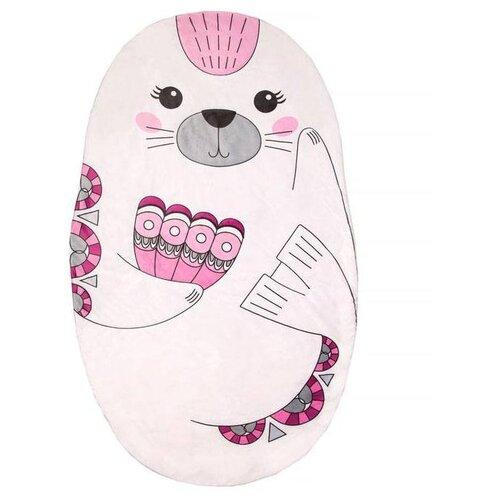 Купить Плед Крошка Я Нерпа 77х134 см белый/розовый, Покрывала, подушки, одеяла