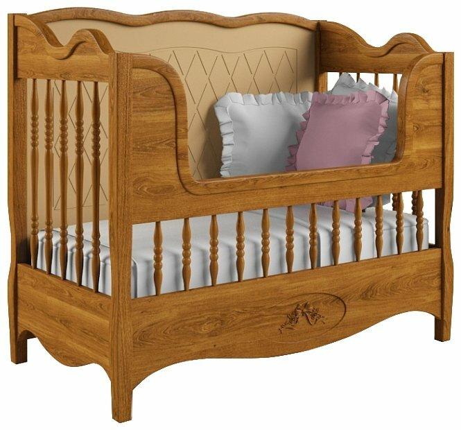 Кроватка Nom du Bebe Прованс (стандартная, + низкий бортик, дуб)