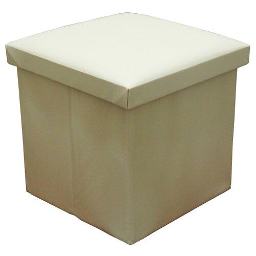 Пуфик с ящиком для хранения Тематика складной искусственная кожа бежевый пуфик с ящиком для хранения удачная покупка ryp56 38 искусственная кожа черный