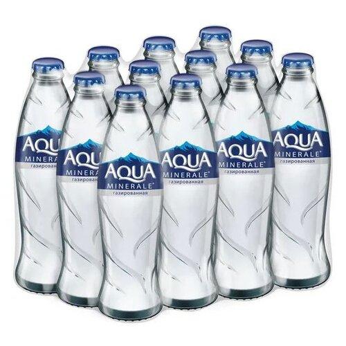 Вода питьевая Аква Минерале газированная, стекло, 12 шт. по 0.26 лВода<br>