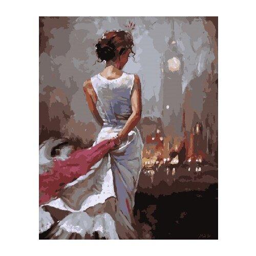 ВанГогВоМне Картина по номерам Девушка в белом платье, 40х50 см (ZX 22114) вангогвомне картина по номерам осенний вальс 40х50 см zx 21314
