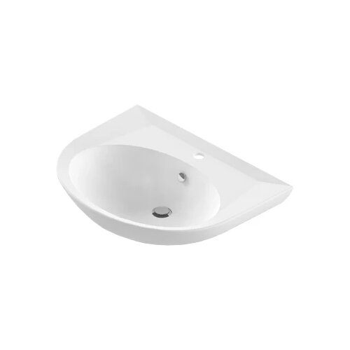 Раковина 64.7 см SANITA LUXE CLASSIC CLCSLWB01 белый писсуар sanita luxe long белый lngslur01