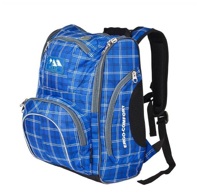 Рюкзак школьный Polar П3065А-04 синий Школа+ноутбук 5-10 класс